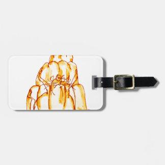 tony fernandes's orange jelly cat luggage tag