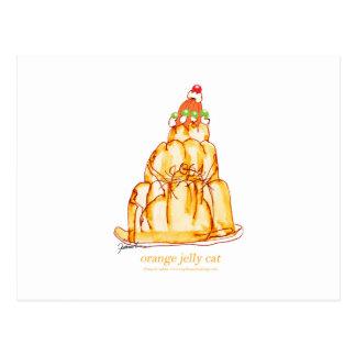 tony fernandes's orange jelly cat postcard
