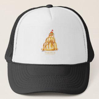 tony fernandes's orange jelly cat trucker hat