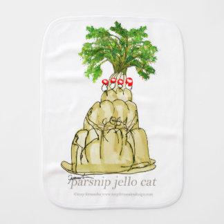 tony fernandes's parsnip jello cat burp cloth