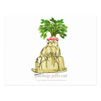 tony fernandes's parsnip jello cat postcard