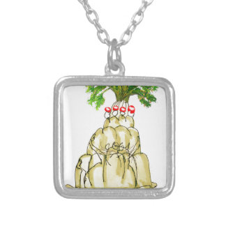 tony fernandes's parsnip jello cat silver plated necklace