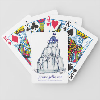 tony fernandes's prune jello cat bicycle playing cards