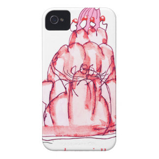 tony fernandes's strawberry jello cat iPhone 4 cover