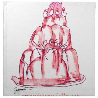 tony fernandes's strawberry jelly cat napkin
