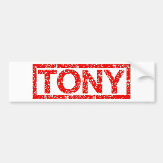 Tony Stamp Bumper Sticker