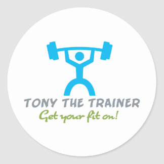 Tony The Trainer Round Stickers