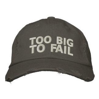 Too Big To Fail Embroidered Baseball Cap