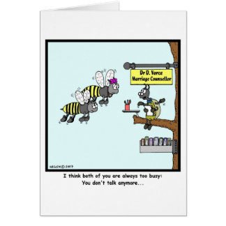 Too Busy: Bee cartoon Card