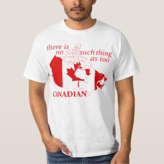 too canadian tshirt