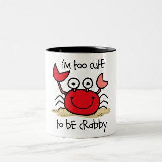 Too Cute Crab Two-Tone Mug