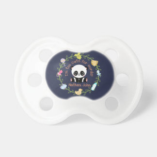Too Cute For Words Personalized Baby Panda Wreath Dummy