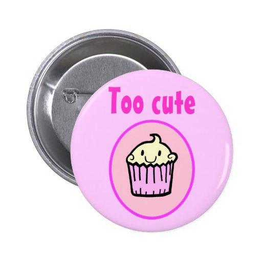 Too Cute Kawaii Cupcake Pin