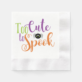 Too Cute To Spook - Cocktail Napkins Disposable Serviette