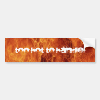 tOO hOT TO hANDLE Bumper Sticker
