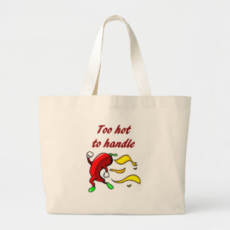 Too Hot To Handle Chili Pepper Tote Bag