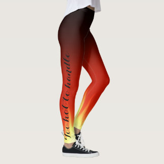 Too hot to handle fire leggings