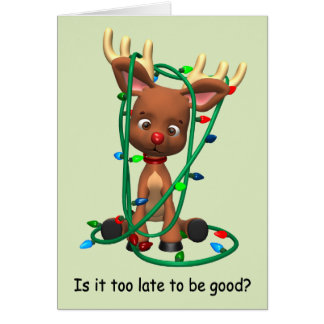 Too Late to Be Good? Greeting Card