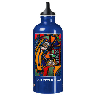 Too Little Time  - Blue  - Time Pieces Water Bottle