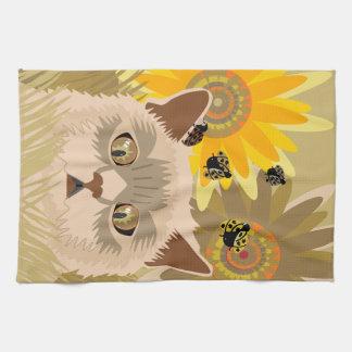 Too Many Ladybugs Neutral Tea Towel