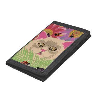 Too Many Ladybugs -Vivid Pink Tri-fold Wallet
