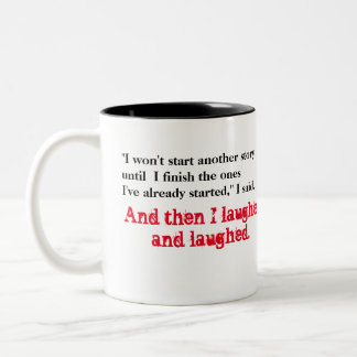 Too Many Stories Two-Tone Coffee Mug