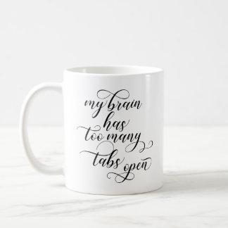 Too Many Tabs Open Coffee Mug - Black