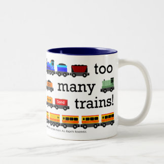Too Many Trains Mug
