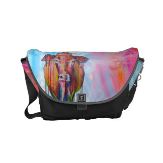 """""""Too Moo and Midnight Ride"""" Messenger Bag Small"""