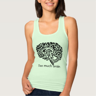 Too much brain Women's Slim Fit Racerback Tank Top