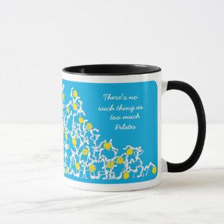 Too much Pilates mug, blue Mug