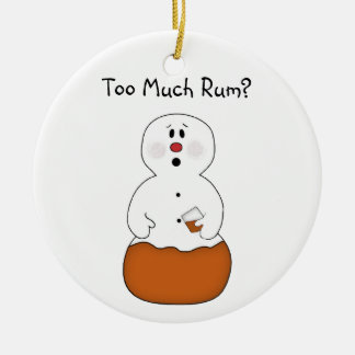 Too Much Rum Ornament