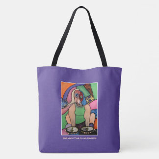 Too Much Time On Your Hands - Purple - Time Pieces Tote Bag