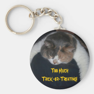 Too Much Trick-or-Treating! Key Chain