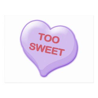 Too Sweet Candy Heart Postcard