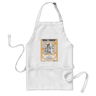 Too Tired Vintage Songbook Cover Apron