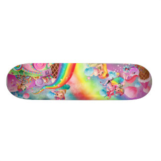 Too Too Yummy Rainbows Unicorn & Candy Skateboard