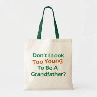 Too Young Grandpa Tote Bags