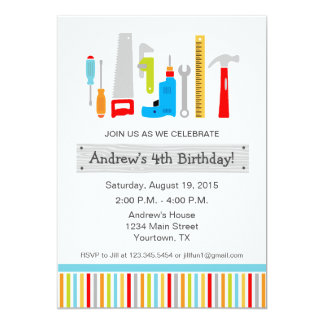 Tool Birthday Party Invitation