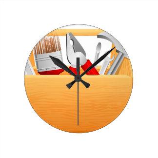 Tool Box Round Clock
