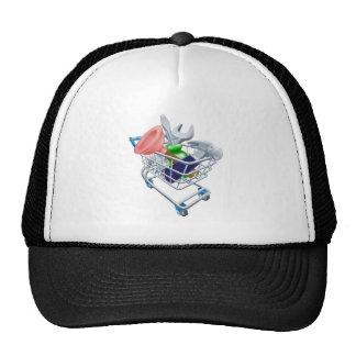 Tool shopping cart trucker hats