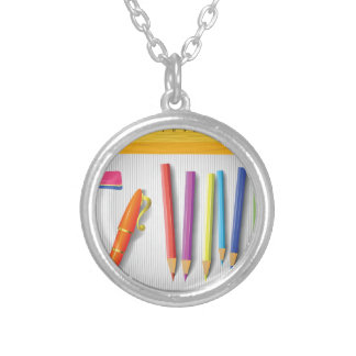 tool silver plated necklace