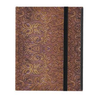 Tooled Leather Design iPad 2/3/4 Case