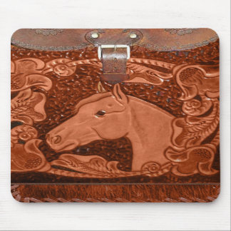"Tooled Leather ""Horse"" Western Mousepad"