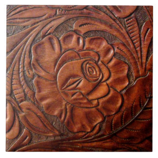 Tooled Leather Tile