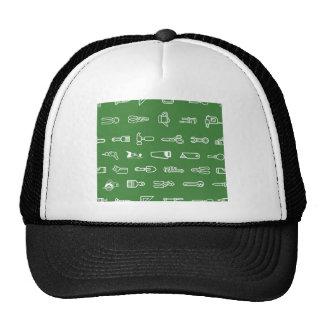 Tools background trucker hats
