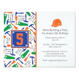 Tools Birthday Invitation