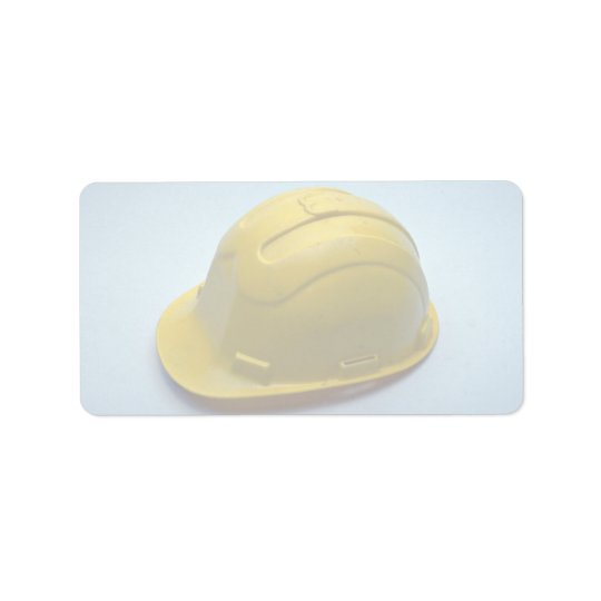 Tools of Trade- Hard hat Address Label