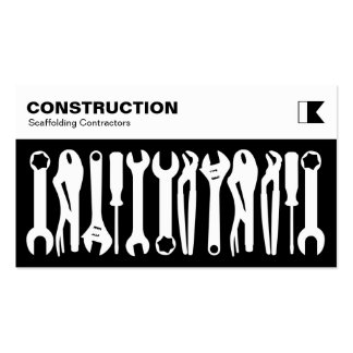 Tools - White on Black Pack Of Standard Business Cards