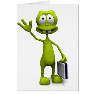 Toon Alien Greeting Card
